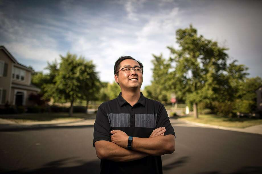 """Jimmy Chang of Danville is a nursing manager who got """"scared"""" in a fight with COVID-19. Photo: Carlos Avila Gonzalez / The Chronicle"""