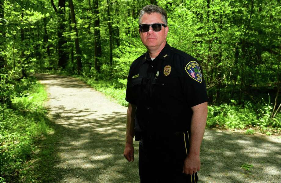 New Canaan Police Chief Leon Krolikowski in Waveny Park Wednesday, May 20, 2020, in New Canaan, Conn. The first anniversary of the disappearance of Jennifer Dulos is coming up next month. Photo: Erik Trautmann / Hearst Connecticut Media / Norwalk Hour