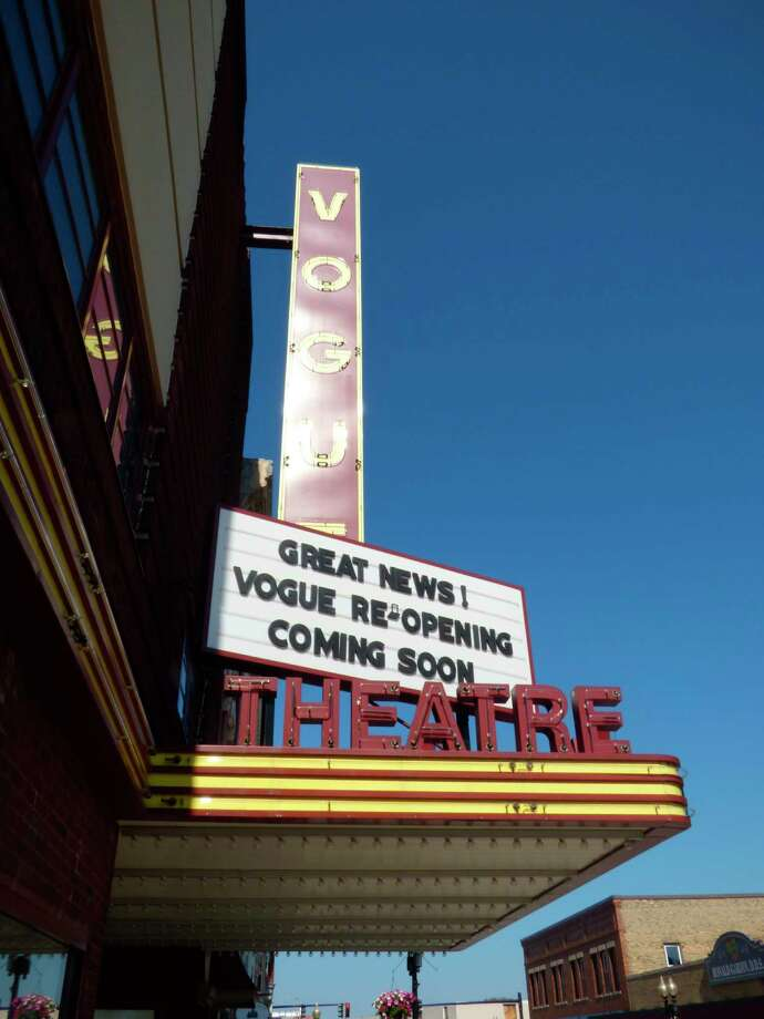 The historic Vogue Theatre in downtown Manistee will reopen with new precautions starting June 26. (Scott Fraley/News Advocate)