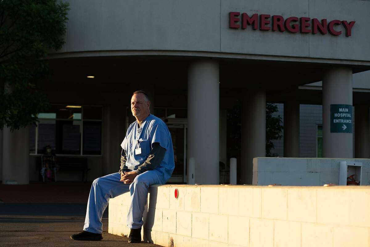 Ray Herrera poses for a portrait outside of Queen of the Valley Napa Medical Center on June 16, 2020 in Napa, Calif. Workers at Napa County's largest hospital want more access to coronavirus testing after learning they have come into contact with patients who later tested positive.