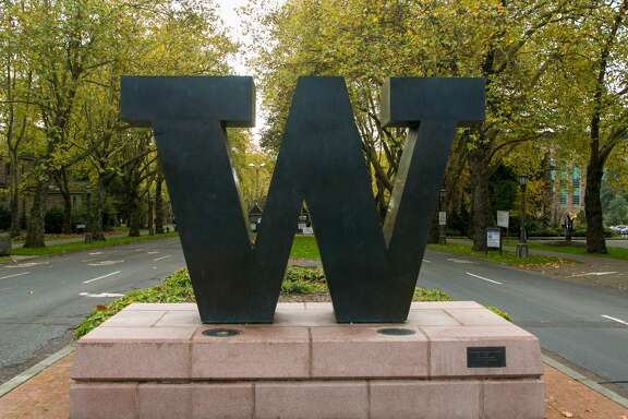 SEATTLE, WA - NOVEMBER 5: The main entrance to the University of Washington is viewed on November 5, 2015, in Seattle, Washington. Seattle, located in King County, is the largest city in the Pacific Northwest, and is experiencing an economic boom as a result of its European and Asian global business connections. (Photo by George Rose/Getty Images)