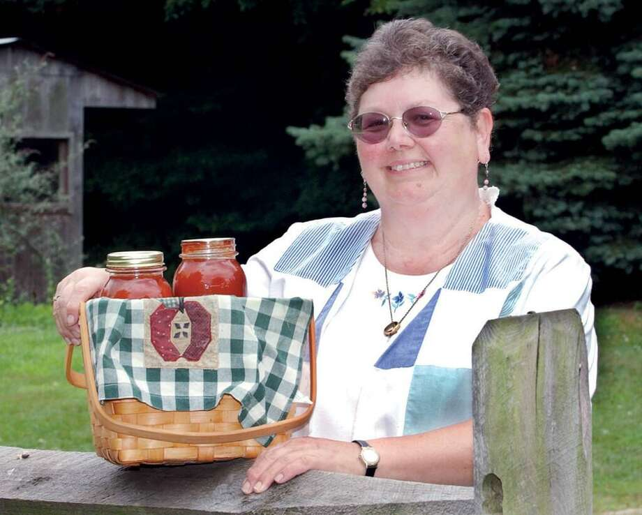 Phyllis Naples Valenti at her Durham farm in 2003. Photo: / Hearst Connecticut Media File Photo