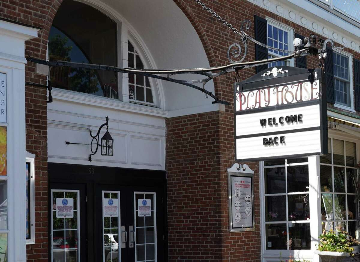 The New Canaan Playhouse on Elm Street in New Canaan has re-opened on June 17, 2020, as part of Phase II of Connecticut's re-opening plan amid the coronavirus pandemic.