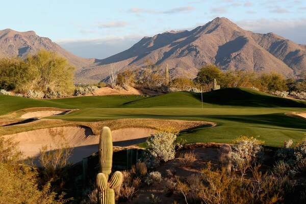SCOTTSDALE, AZ - DECEMBER 26: The par three 11th hole on The Tallon Course at the Gray Hawk Golf Club, Scottsdale on December 26, 2012 in Scottsdale, Arizona. (Photo by Ross Kinnaird/Getty Images)