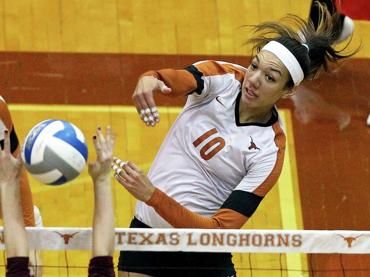 A volleyball star at Texas from 2011-14, Haley Eckerman now coaches at Tarleton State.