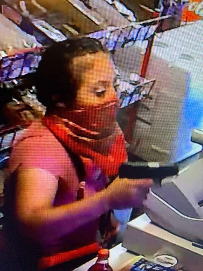 The Webb County Sheriff's Office said this woman robbed a convenience store in Rio Bravo at gunpoint. Photo: Courtesy Photo /Webb County Sheriff's Office