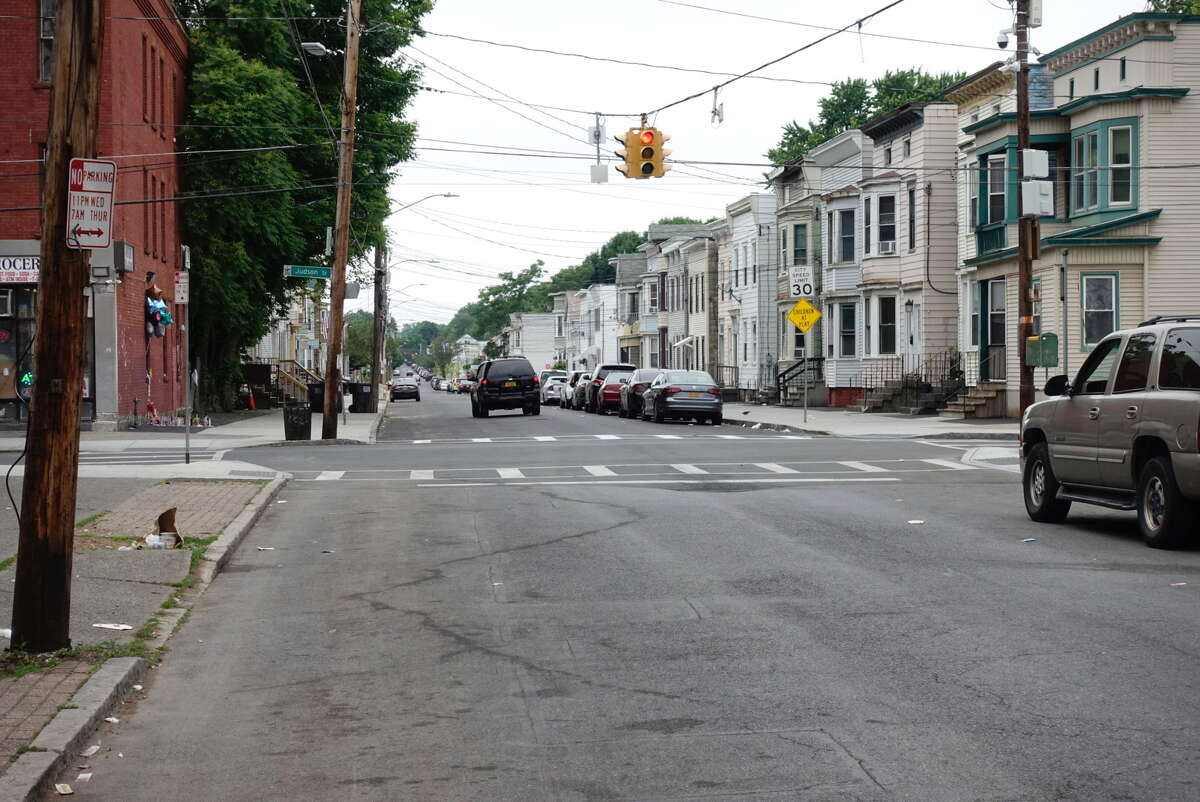 Albany police said two men were shot early Thursday on Second Street near the intersection with Judson Street. The shooting happened less than two hours before seven men were shot on Albany Street near Broadway. All nine victims were expected to live, police said.