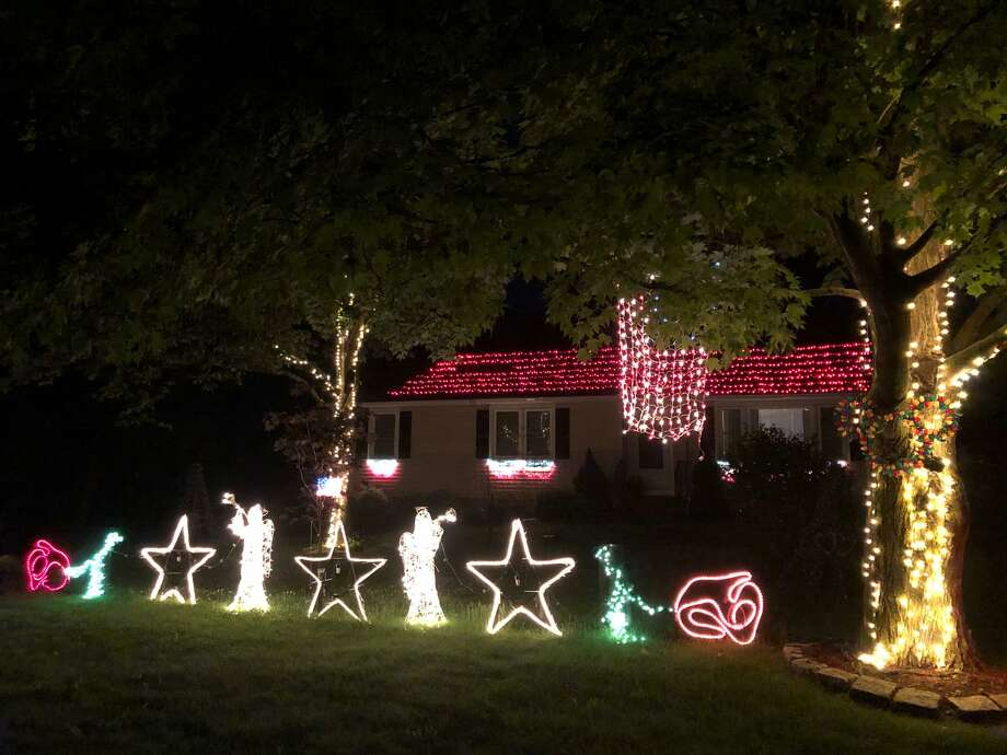 Joe Petrowski's light display in Guilford aims to raise money for Connecticut Food Bank. Photo: Joe Petrowski / Contributed Photo