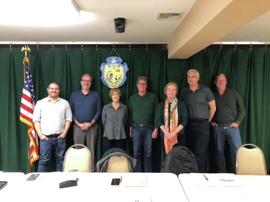 New Fairfield Economic Development Commission members, from left: Myke Furhman, Greg Manning, Ellen Perle, Mark Werner, Kathleen DiTullio, James Kloos and Bob Allan. Photo: Contributed Photo