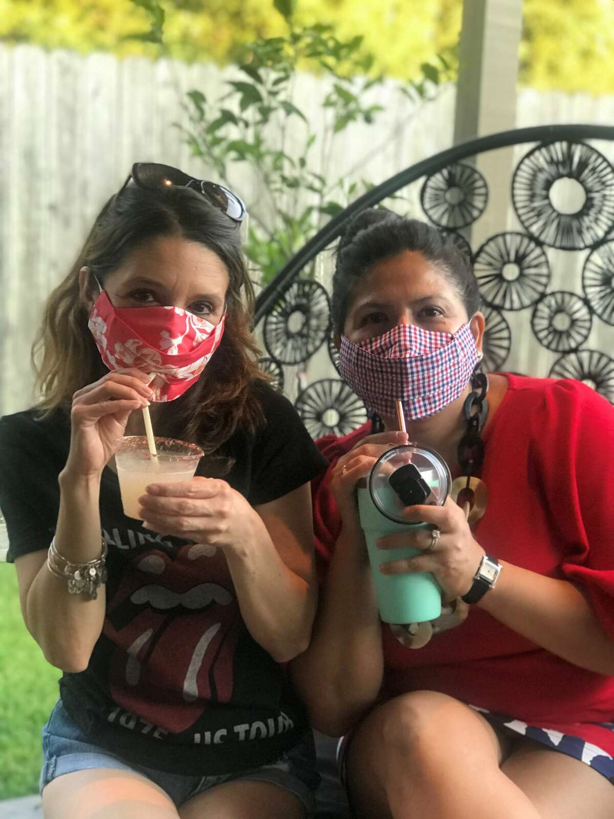 Project Runway winner and Houston fashion designer Chloe Dao has created the Safely Sip in Style mask, $25, which allow users to sip drinks through a straw without removing the mask.