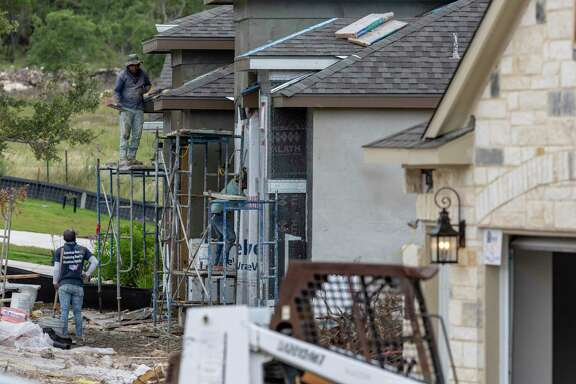 A home under construction Wednesday, June 17, 2020 in the Sitterle Homes community of Miralomas in Boerne.