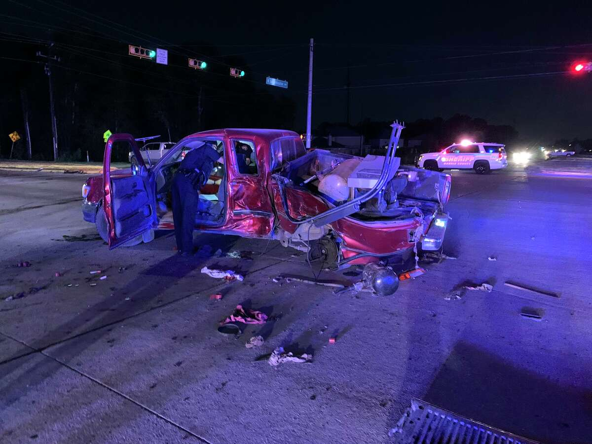 HCSO is investigating after a driver was ejected from a vehicle during a crash at Lockwood Road and N. Lake Houston Parkway.