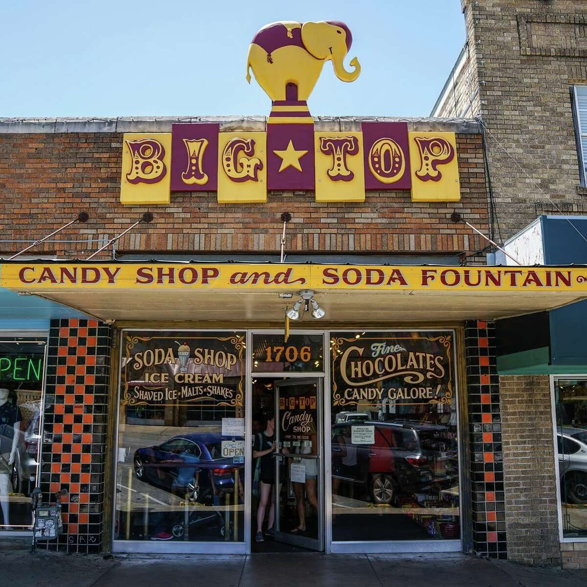 Big Top Candy Shop1706 S Congress Ave Austin, TX 78704(512) 462-2220 Located in the heart of Austin, Big Top Candy Shop has a circus theme. It boasts everything from vintage candy to an enormous old-fashioned soda fountain ready to take your order. Photo: Yelp/Ralph C.