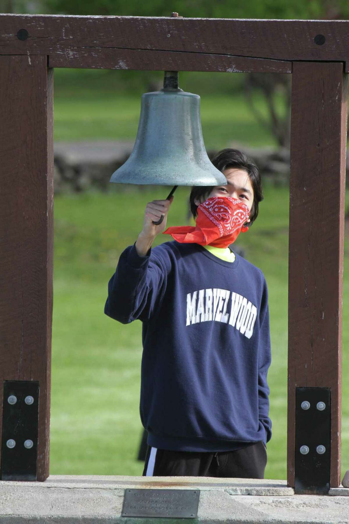Marvelwood School in Kent recently held a virtual commencement exercise for its class of 2020. David Ma of Kent, student body president and valedictorian, ran the Piper Victory Bell in honor of all his classmates.