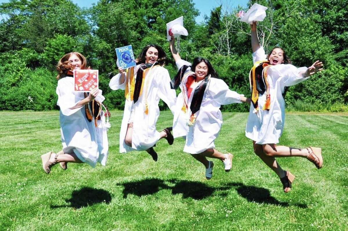 Cromwell High School's class of 2020 graduated Monday night in style during a socially distanced vehicle parade that made its way from Watrous Park to the facility and back again.