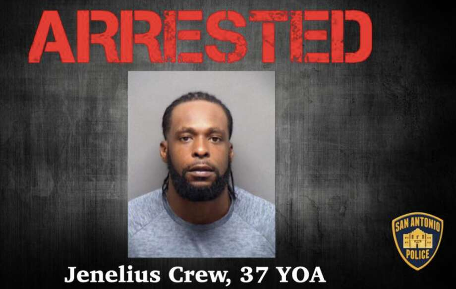 Jenelius Crew, 37, was taken into custody at a Miami hotel on Thursday, police said. Photo: San Antonio Police Department