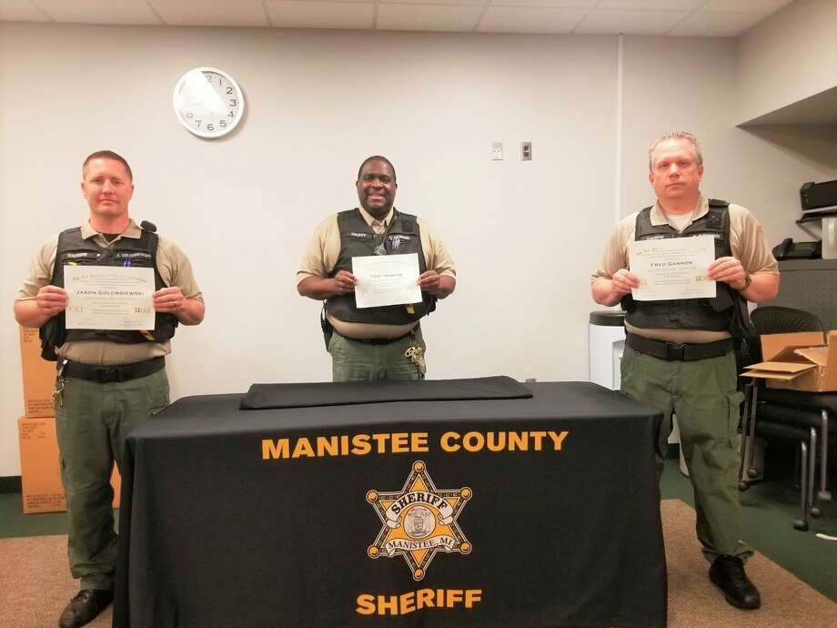 (From left) Jason Golembiewski, Tony Howard and Fred Gannon each recently joined the ranks of certified jail officers through the American Jail Association's Jail Manager Certification Commission. (Courtesy photo)
