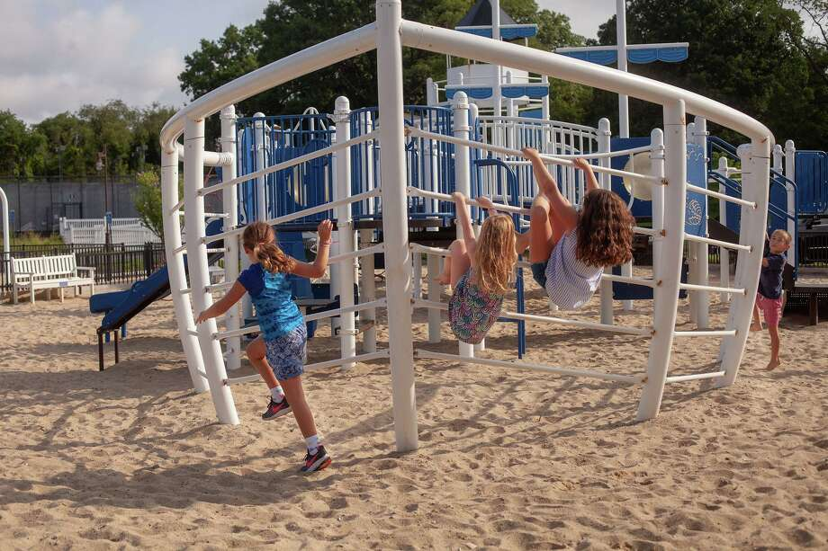 The playground at Weed Beach will reopen along with Darien's park playgrounds on Friday, June 19. Photo: The Darien Foundation / / Julia Arstorp Photography
