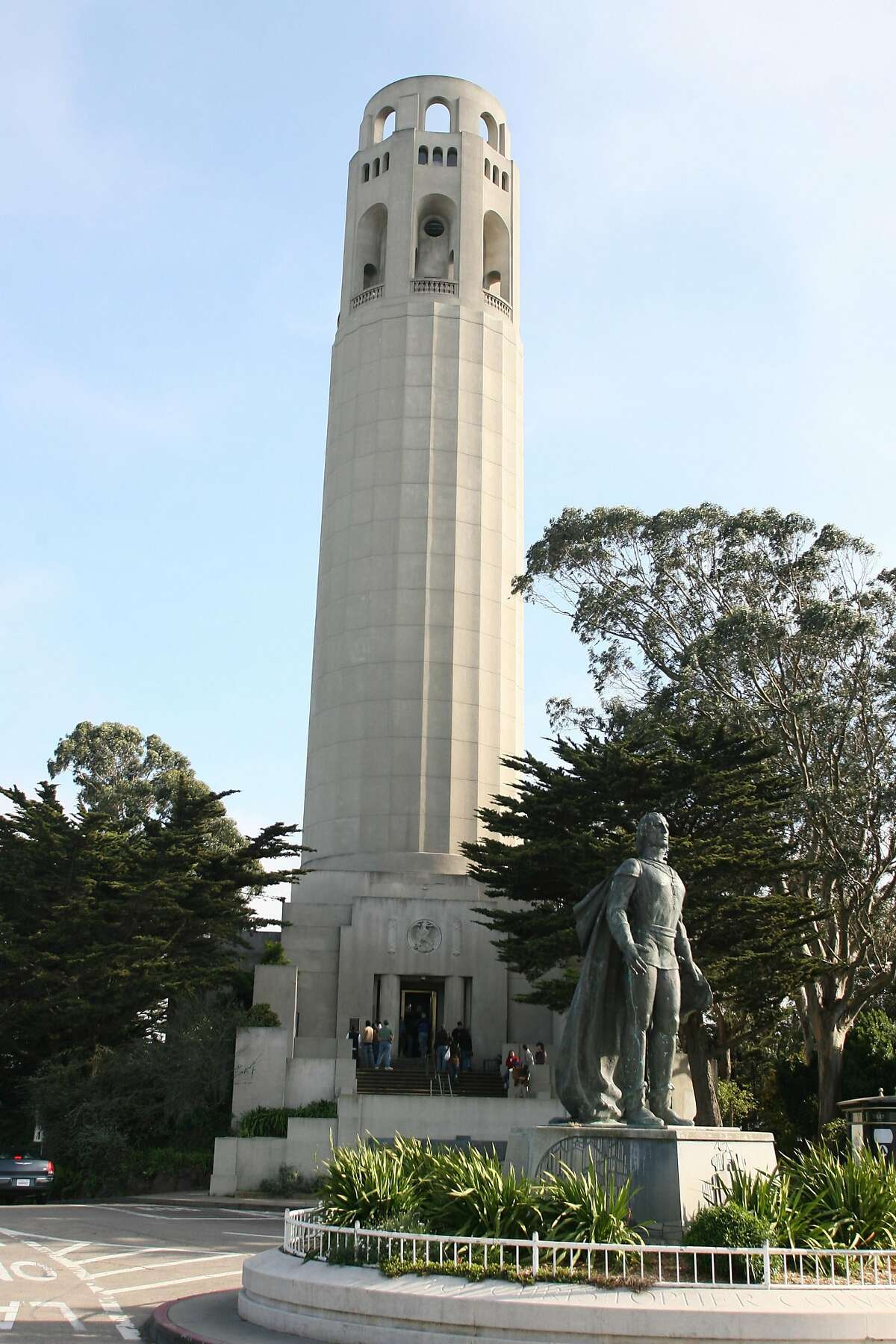Coit Tower on Telegraph Hill in San Francisco, California. The tower was built with funds from philanthropist Lillie Hitchcock Coit. (Ben Noey Jr./Fort Worth Star-Telegram/MCT)