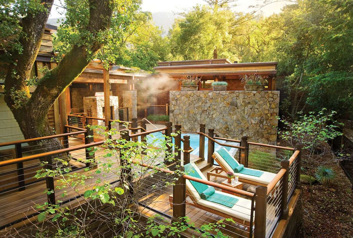 A file photo of the spa at Calistoga Ranch. A spokesperson for the resort said there is extensive damage due to the Glass Fire.
