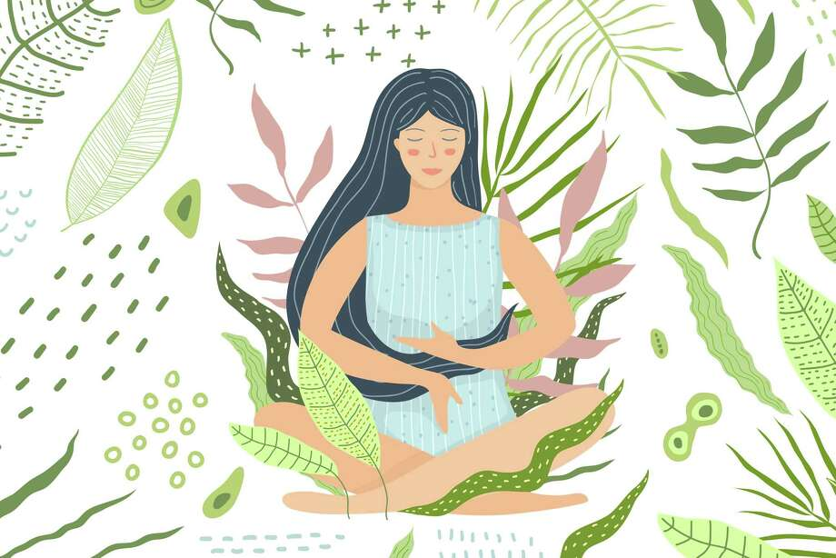 Peaceful mind and calmness. Yoga and meditation flat illustration. Photo: Popmarleo / Popmarleo/Getty Images/iStockphoto / iStockphoto