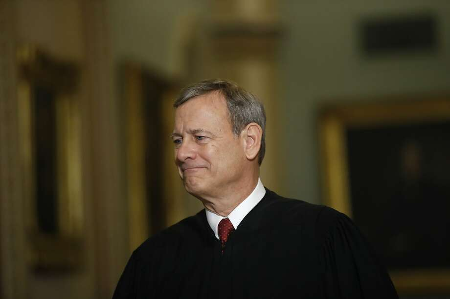 FILE - In this Jan. 16, 2020, file photo Chief Justice of the United States, John Roberts walks to the Senate chamber at the Capitol in Washington.  (AP Photo/Matt Rourke, File) Photo: Matt Rourke, Associated Press
