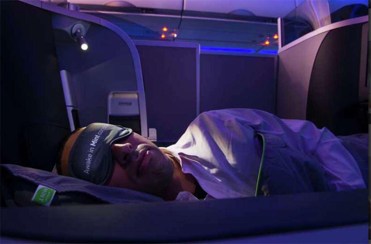 JetBlue's Mint cabins have lie-flat seats.