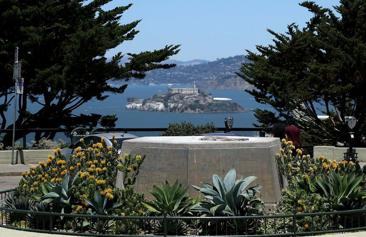SAN FRANCISCO, CALIFORNIA - JUNE 18: A concrete pedestal where a statue of Christopher Columbus once stood sits empty on June 18, 2020 in San Francisco, California. San Francisco city workers removed a bronze statue of Italian explorer Christopher Columbus from Pioneer Park at the foot of Coit Tower after the statue had recently been vandalized and following reports that protesters had plans to topple the statue and dump it in the San Francisco Bay. (Photo by Justin Sullivan/Getty Images)