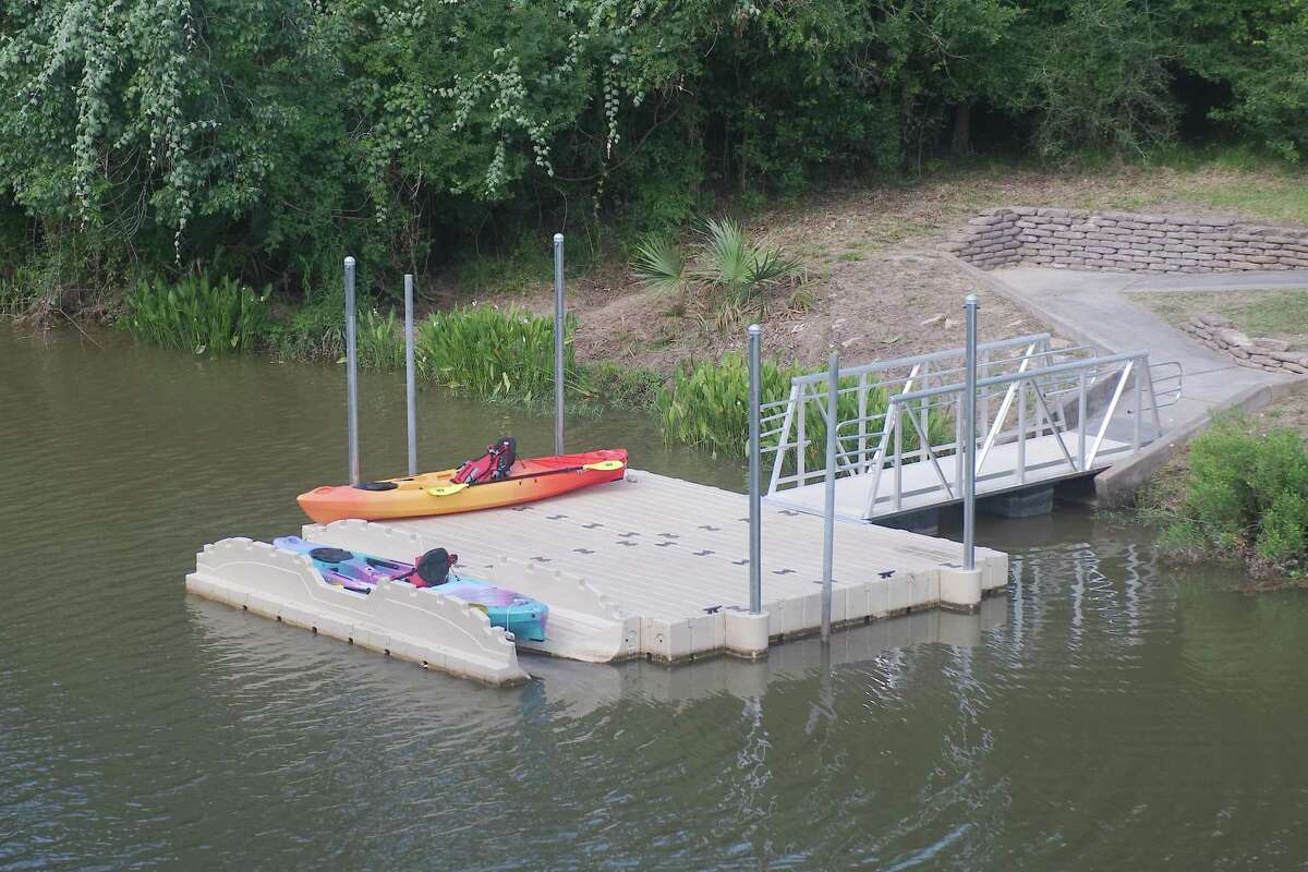 The launching platform is part of the improvements made at Big Island Slough Park.