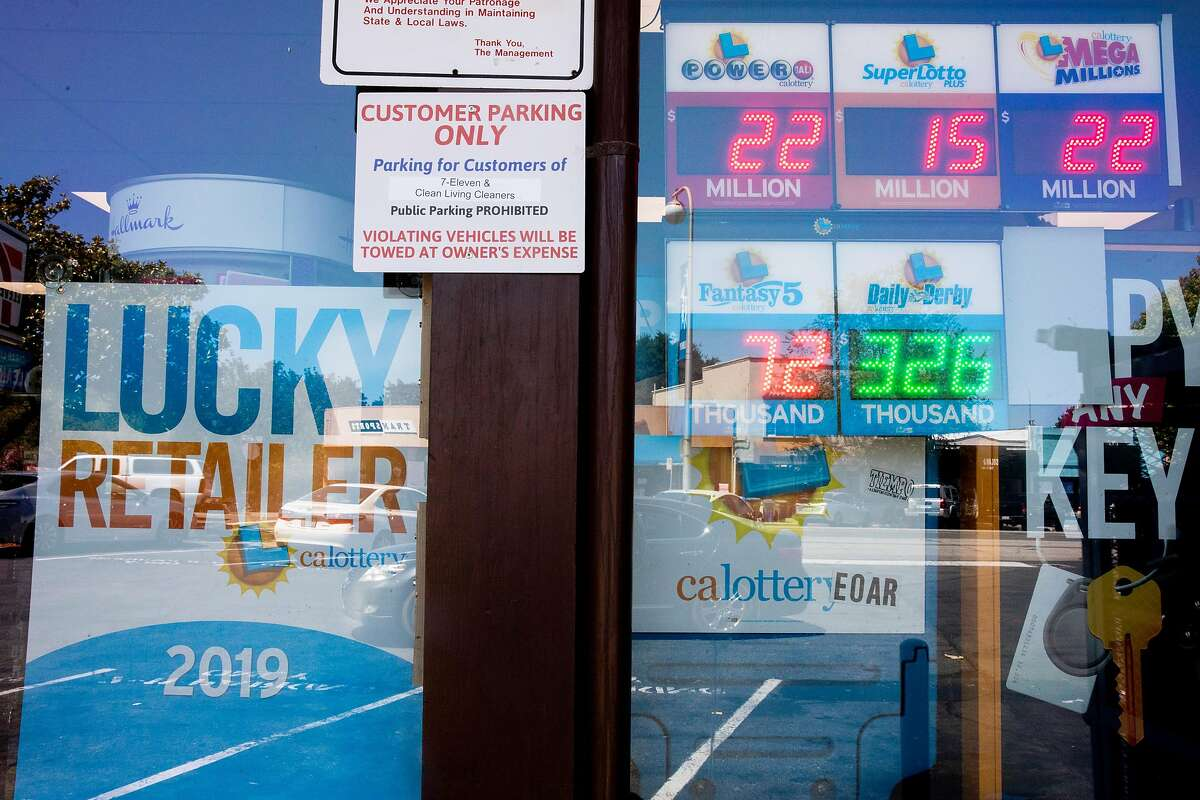 Advertisements for the California Lottery are seen outside of 7-Eleven in Albany, Calif. Tuesday, June 16, 2020 where scratcher tickets are in short supply. A serious shortage of California Lottery scratchers in the Bay Area, and possibly the state, over the last two weeks has left some stores such as 7-Eleven, Safeway and other markets empty-handed as deliveries they were promised never arrived.