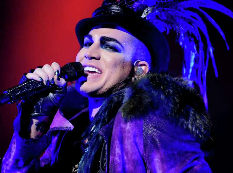 Former American Idol competetor Adam Lambert performs at the Palace Theatre, on Monday, August 23, 2010, in Albany, NY. (Luanne M. Ferris / Times Union ) Photo: Luanne M. Ferris