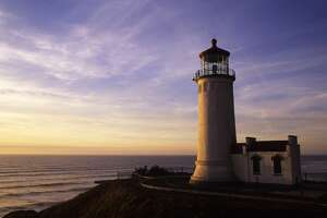 UNITED STATES - 1994/01/01: USA, Washington, Long Beach Peninsula, Fort Canby State Park, North Head Lighthouse In Evening Light. (Photo by Wolfgang Kaehler/LightRocket via Getty Images)