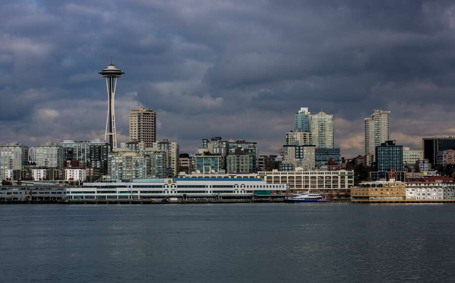 SEATTLE, WA - NOVEMBER 4: The waterfront, the Space Needle, and downtown skyline is viewed from the Bainbridge Island Ferry on November 4, 2015, in Seattle, Washington. Seattle, located in King County, is the largest city in the Pacific Northwest, and is experiencing an economic boom as a result of its European and Asian global business connections. (Photo by George Rose/Getty Images) Photo: George Rose/Getty Images / 2015 George Rose