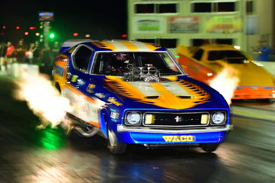 A Nitro Funny Car in action in this undated photo. Photo: Courtesy Photo / Martin Libhart