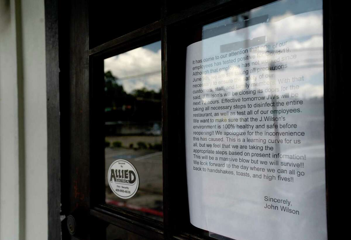 J. Wilson's is closed and has suspended curside pick-up after an employee reported testing positive this week. They will do a deep cleaning and sanitizing and monitor other employees before resuming services. Photo taken Thursday, June 18, 2020 Kim Brent/The Enterprise