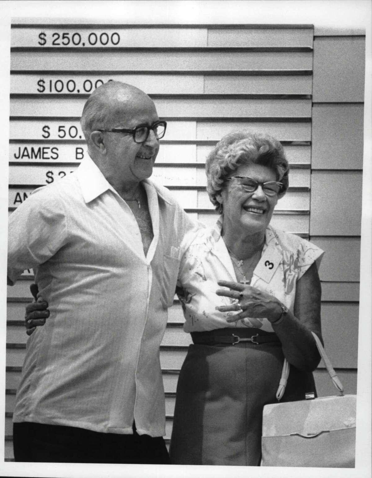 Jess & Marie Prokosch, $250,000 New York lottery winners, at Capitol Park. June 26, 1980 (Raymond B. Summers/Times Union Archive)