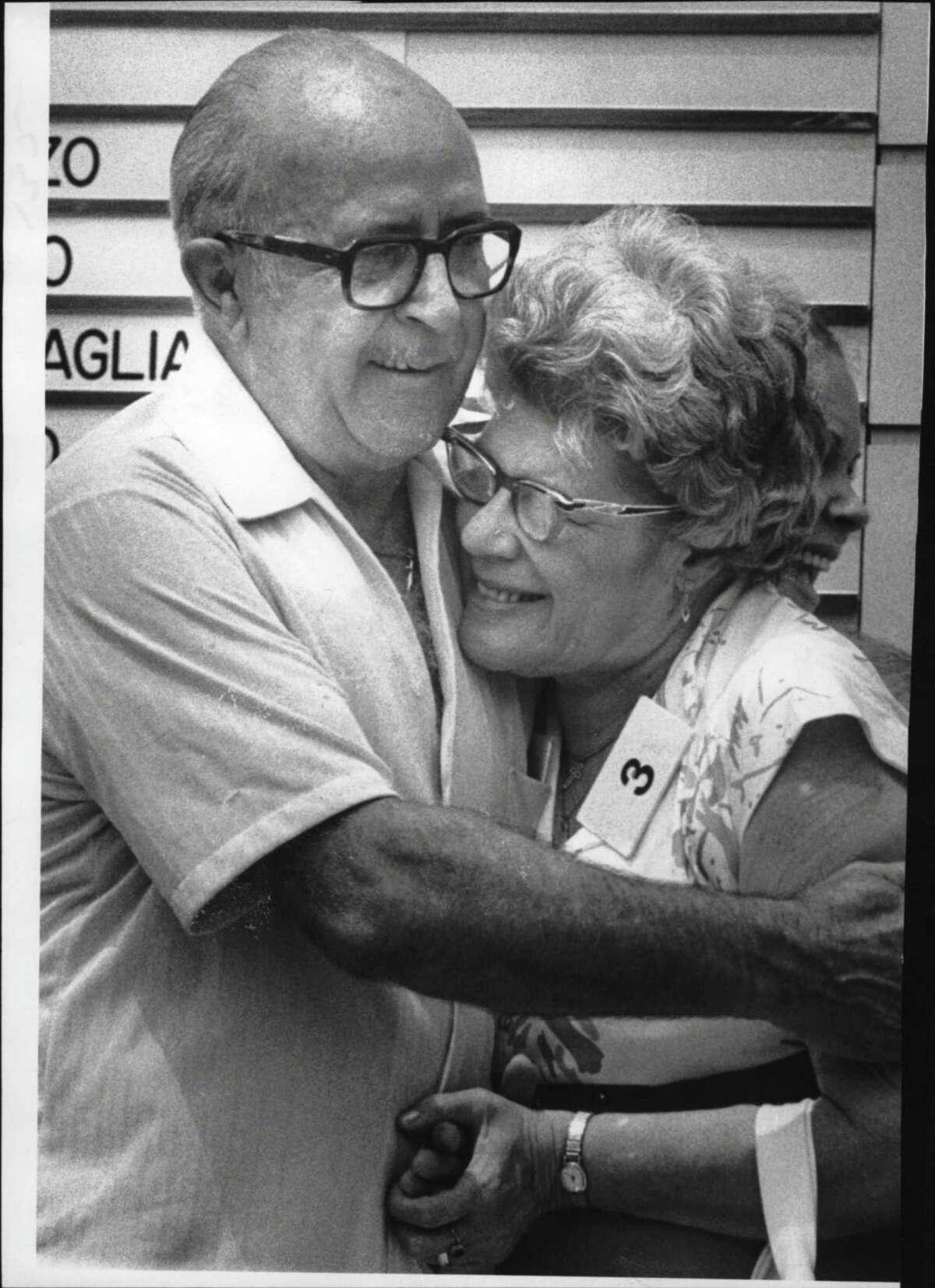 Jess & Marie Prokosch of Newburgh, $250,000 New York lottery winners, at Capitol Park. June 26, 1980 (Raymond B. Summers/Times Union Archive)