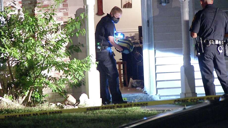 Officers responded to a report of a disturbance on the 4800 block of Castle Sword at 10:54 p.m. The disturbance turned into a shooting, police said. Photo: Ken Branca