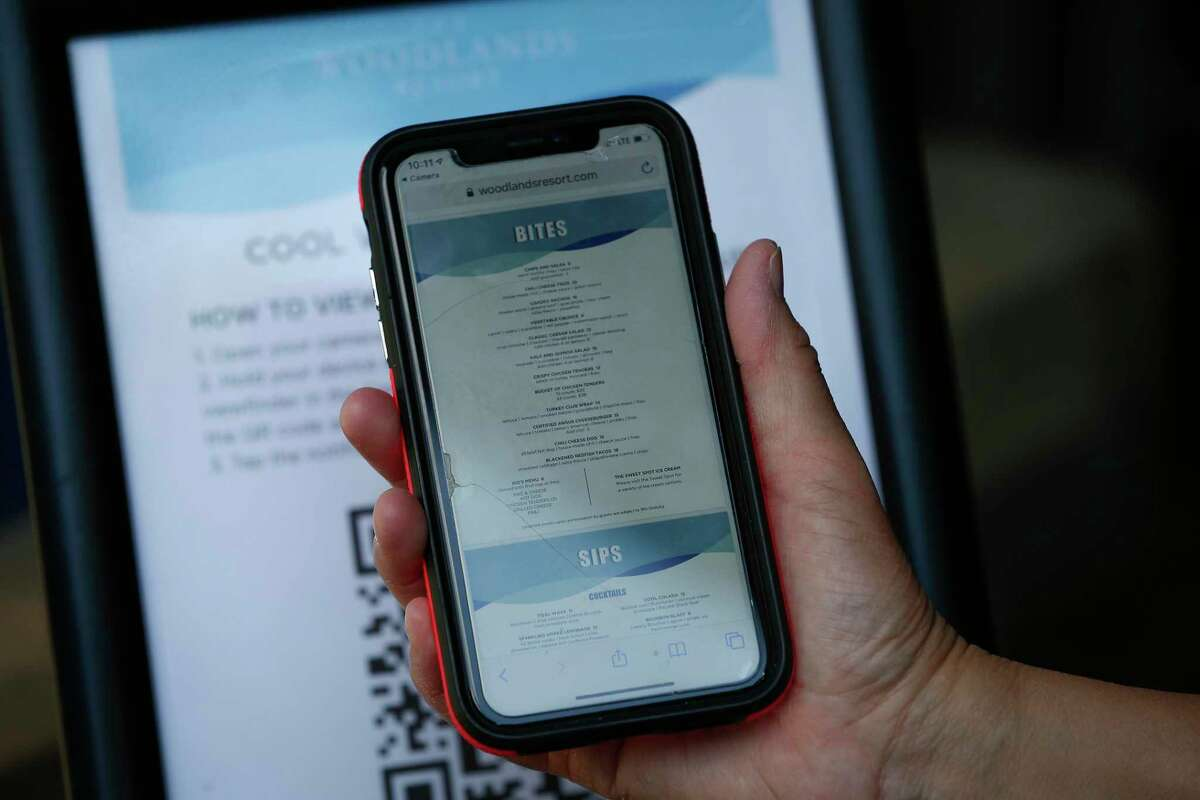 The Cool Water Cafe Menu has moved from paper to an online App near the Lazy River in The Woodlands Resort Thursday, June 18, 2020, in The Woodlands.