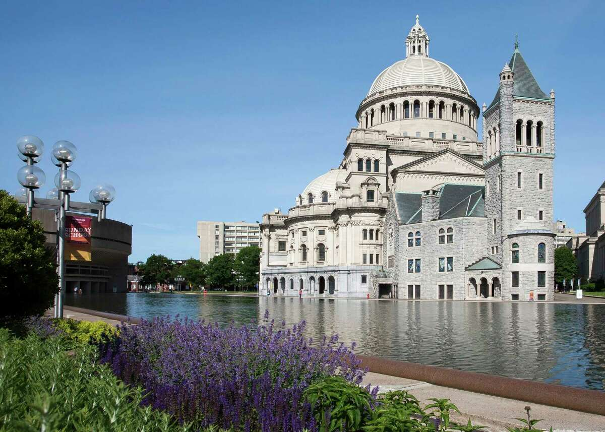 The Mother Church, The First Church of Christ, Scientist, in Boston, is headquarters for the Christian Science denomination. The Church has branches in some 70 countries, and members throughout the world participated in their annual meeting by joining remotely this year. Michigan has 36 local Christian Science congregations, including one here in Midland. (Photo provided)