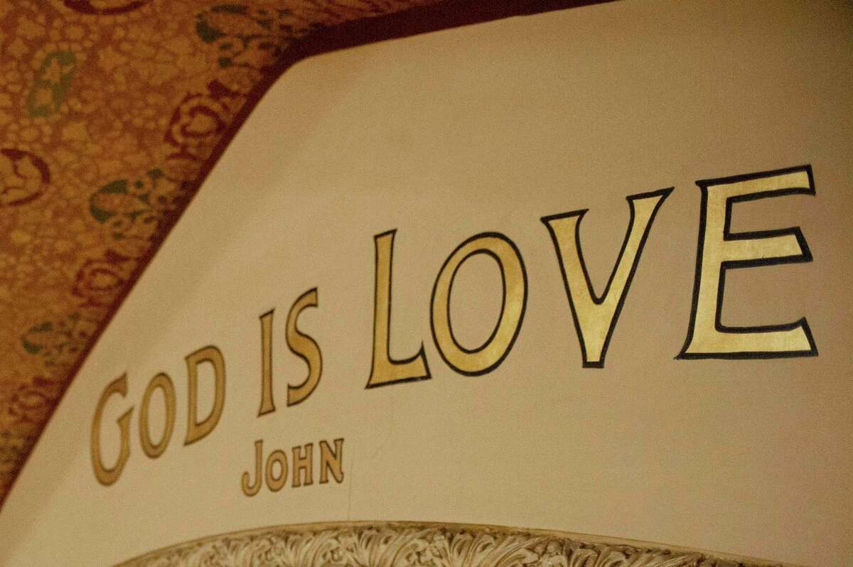 """The Bible quote """"God is love"""" appears near the front of almost every sanctuary in Christian Science churches, including in The First Church of Christ, Scientist, in Boston, the headquarters for the denomination. Michigan has 36 local Christian Science congregations, including one here in Midland. (Photo provided)"""