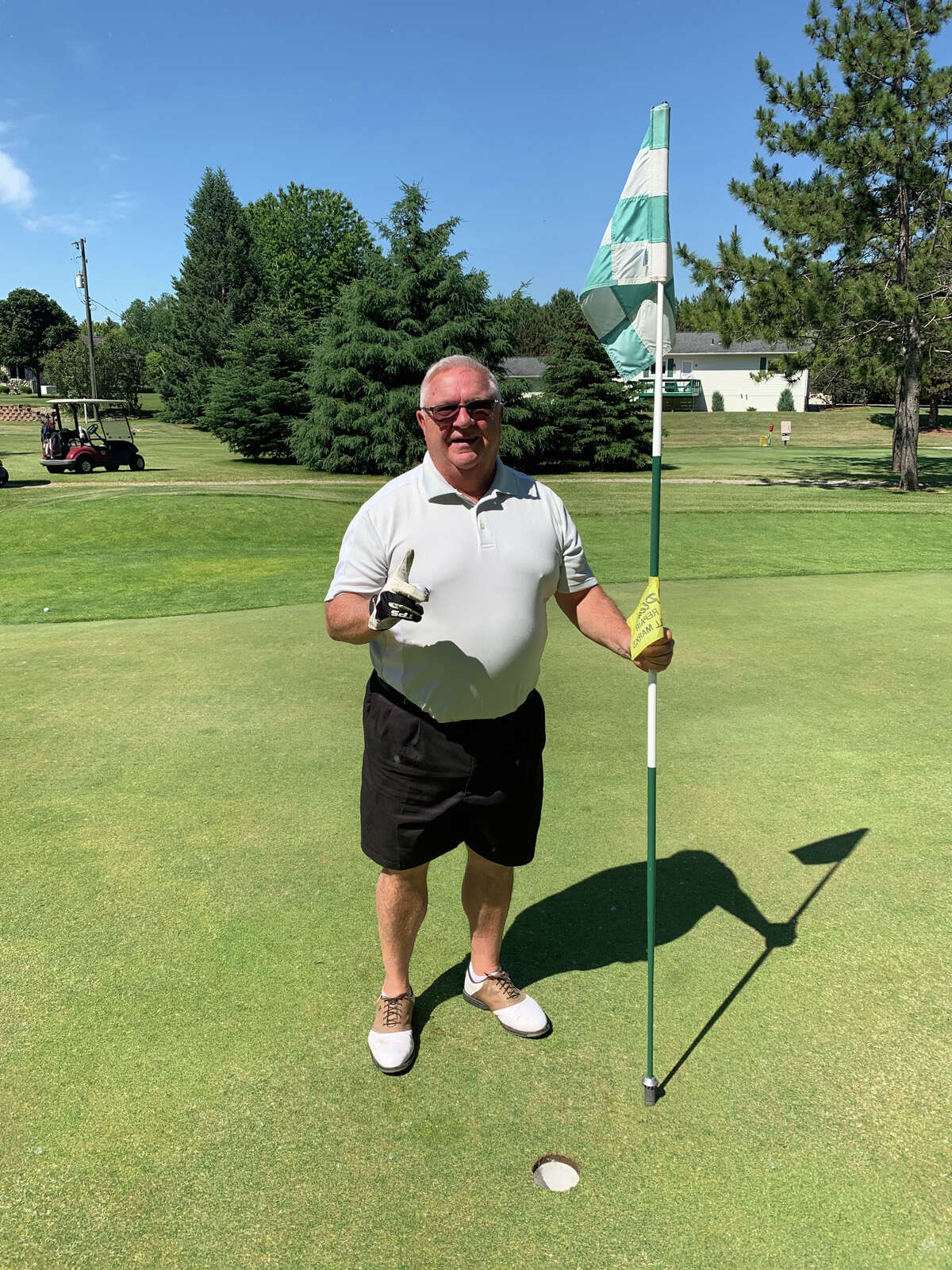 Kent Tibbits, of Pigeon, recorded an ace on the No. 7 hole at Century Oaks Golf Course on Thursday.