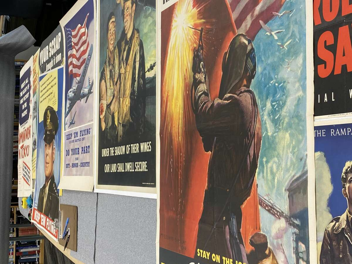 The 20-piece World War II poster exhibit will be showcased throughout the Waltrip Hanger as part of the Fight to the Finish program.