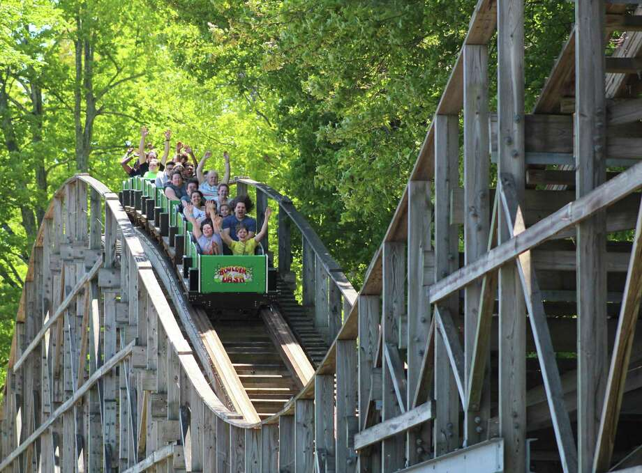 The Boulder Dash wooden roller coaster at Lake Compounce. Photo: Lake Compounce / Contributed Photo