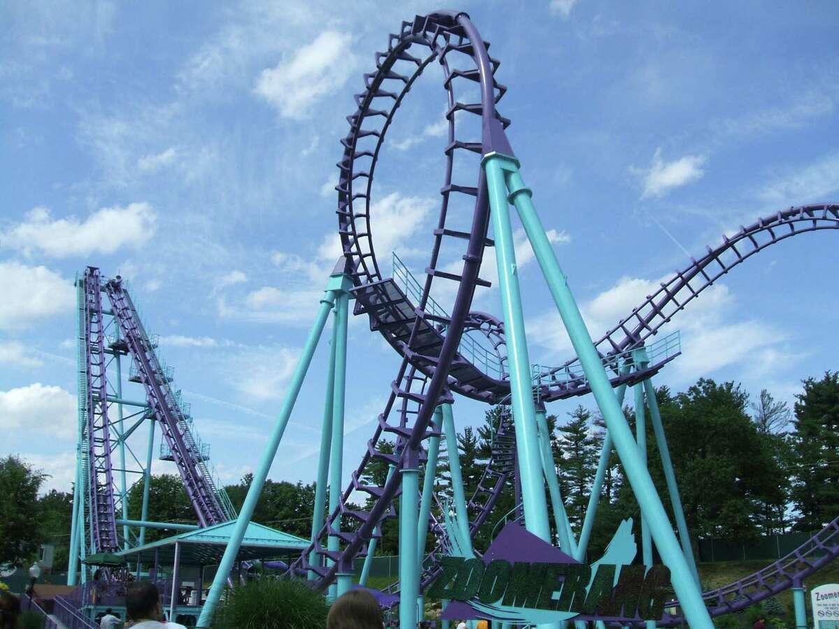 The Zoomerang coaster at Lake Compounce Amusement & Waterpark.
