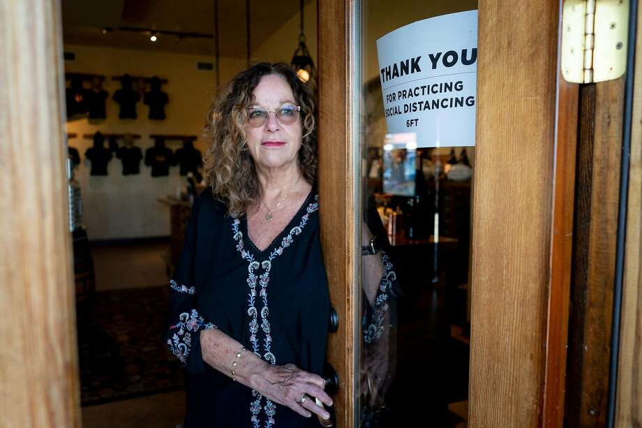 """""""How could you not be nervous?"""" said Papapietro Perry Winery co-owner Renae Perry of reopening. Photo: Rachel Bujalski / Special To The Chronicle"""