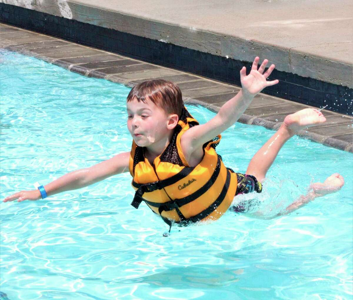 As temperatures spiked to the low 90s, residents in the Upper Thumb rejoiced as the Helen Stevens Memorial Pool opened for the season. (Sara Eisinger/Huron Daily Tribune)