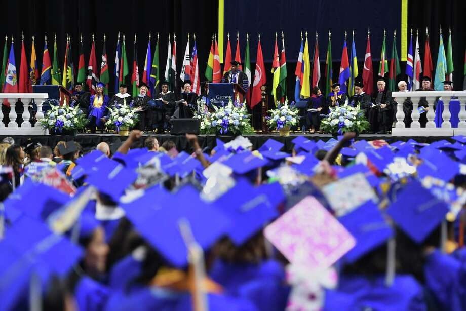 In 2019, The Gateway Community College graduation was held at the Webster Bank Arena in Bridgeport, Conn. Photo: Brian A. Pounds / Hearst Connecticut Media / Connecticut Post