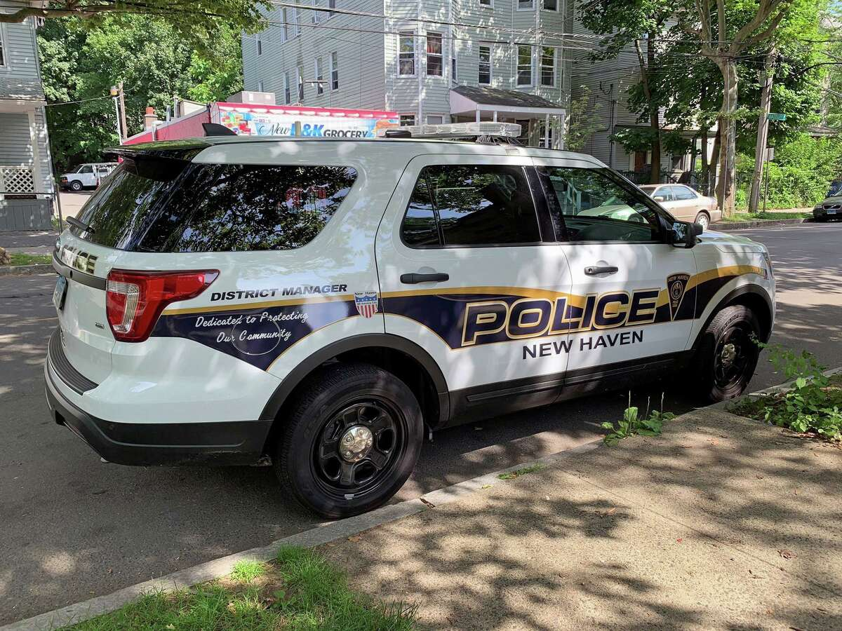 File photo of a New Haven, Conn., police vehicle.