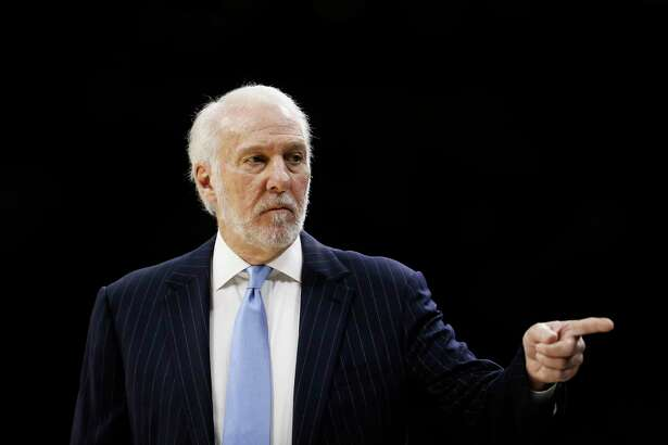 In this Nov. 22, 2019, file photo, San Antonio Spurs coach Gregg Popovich points to his bench during a game. Popovich has been outspoken about the death of George Floyd and many other issues. One reader welcomes Popovich's opinions given his background and platform.